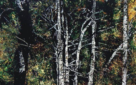 大美漆画,著名漆艺家詹蜀安6幅磨漆绘画作品欣赏