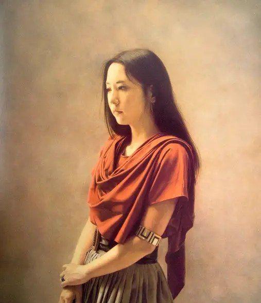 独特的东方神韵,日本油画家森本草介油画作品欣赏