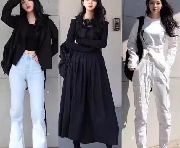 韩系美女终于放弃可爱风,换上中性衣服,酷炫,独立,帅气