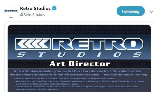 《银河战士4》发公告招聘艺术总监 或还在开发早期阶段