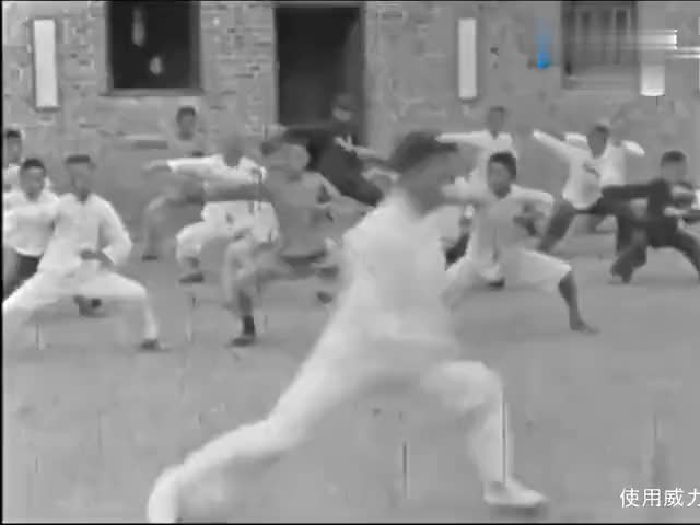 珍贵影像1936年南京中央国术馆珍藏的练武画面