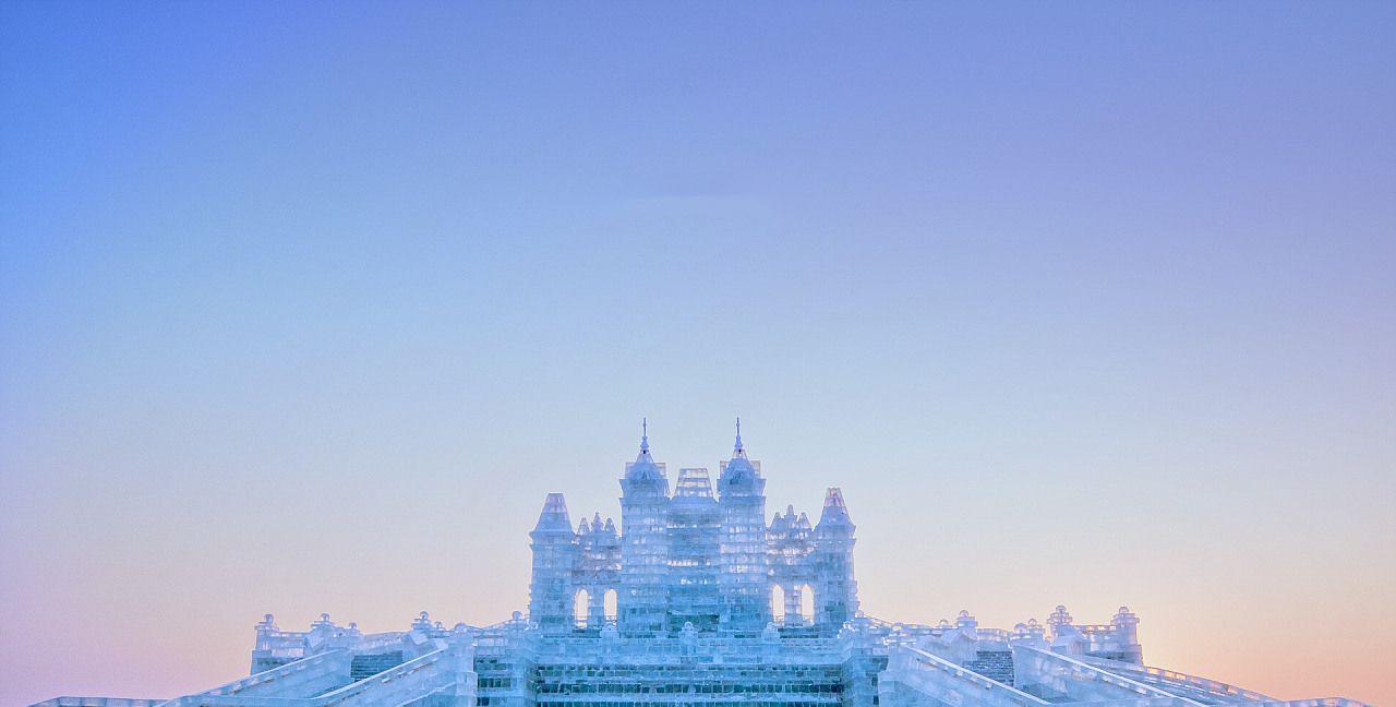 现实版的冰雪奇缘,一定要来哈尔滨冰雪大世界,美轮美奂!