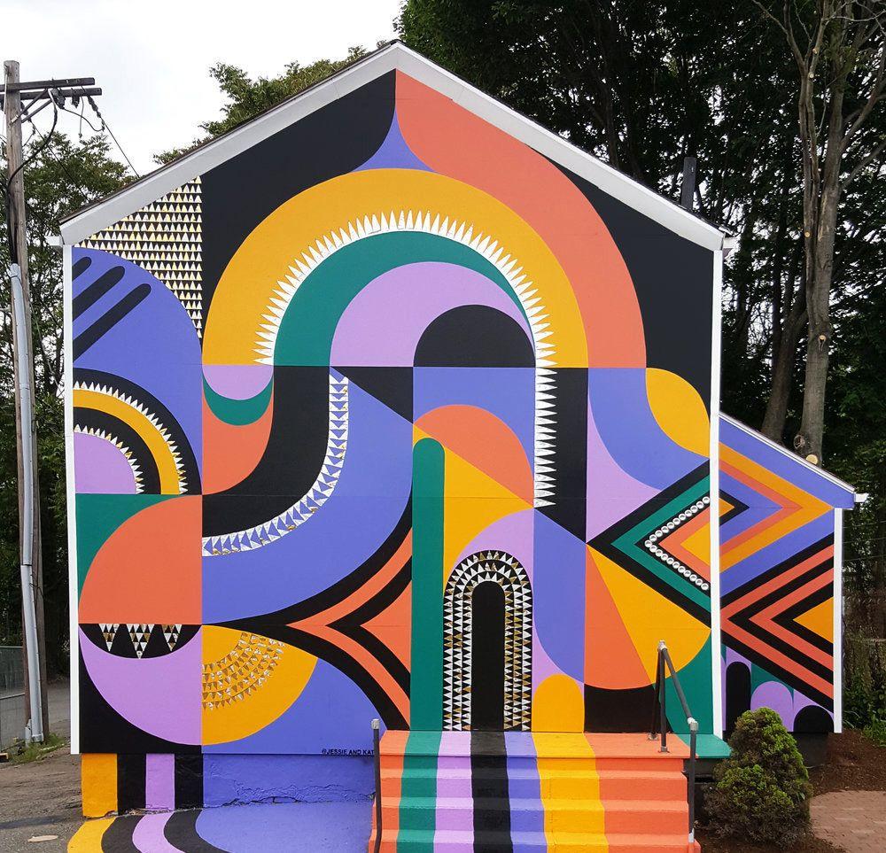 巴尔的摩的艺术家Jessie和Katey创作的壁画作品欣赏
