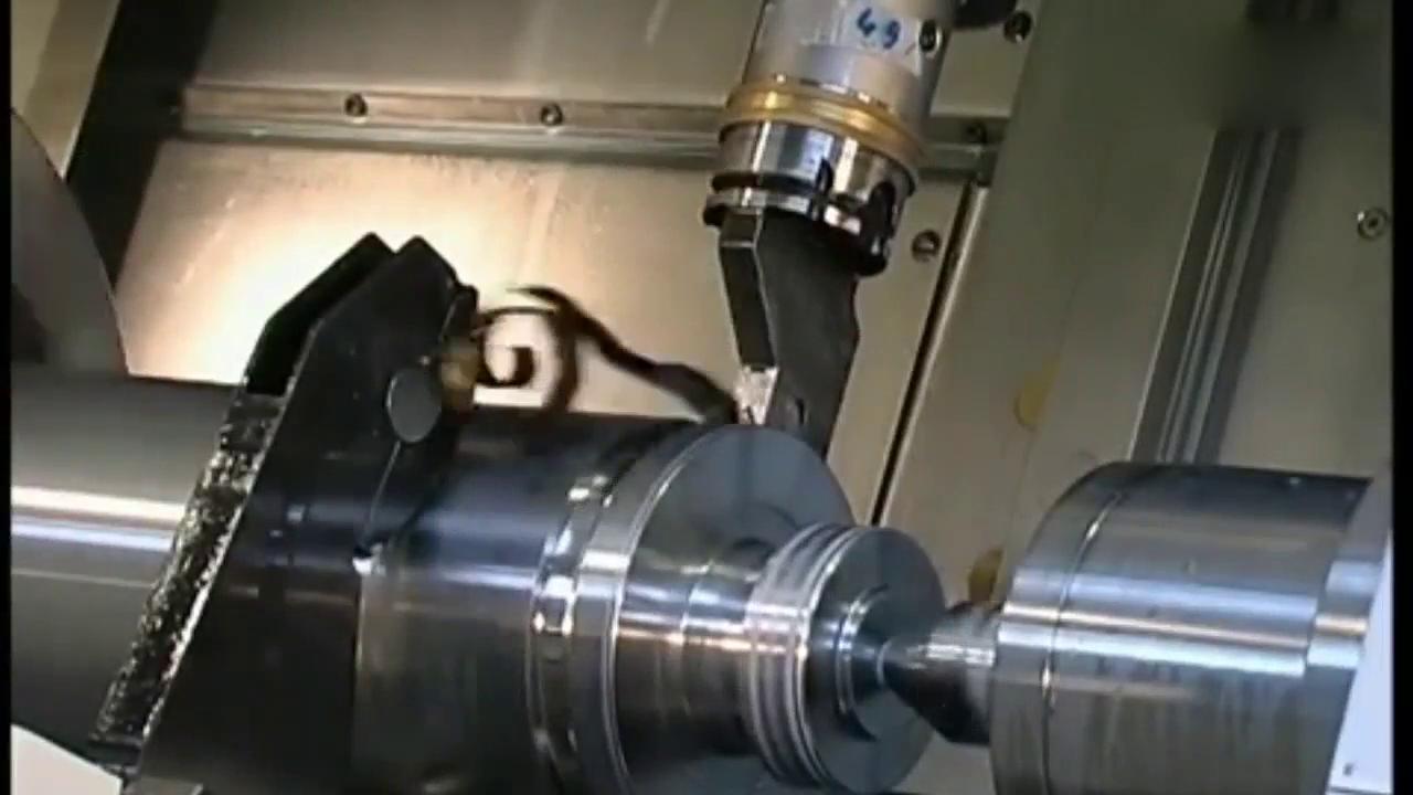 视频:WFL M60车铣完整的曲轴加工中