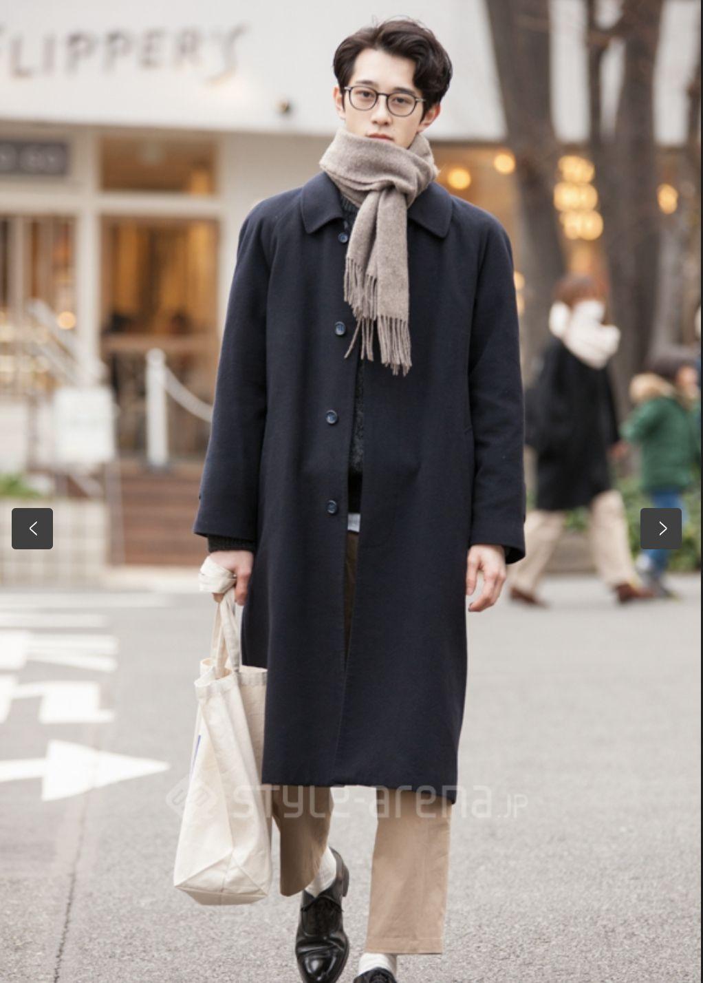 2月日本东京表参道素人男生街拍,小方巾效果不错,浓浓复古气息
