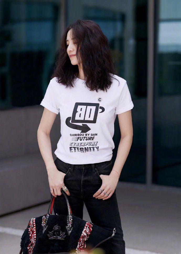 锦鲤杨超越 欧阳娜娜 景甜 宋佳 宋茜 白T恤穿搭,你更看好哪种