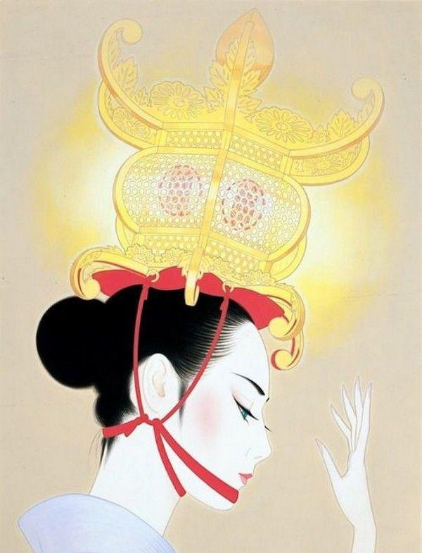 日本当代艺术家Ichiro Tsuruta笔下的日本女郎,感觉审美观不一样