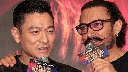 """刘德华与""""印度刘德华""""阿米尔·汗首同框,希望合作电影"""