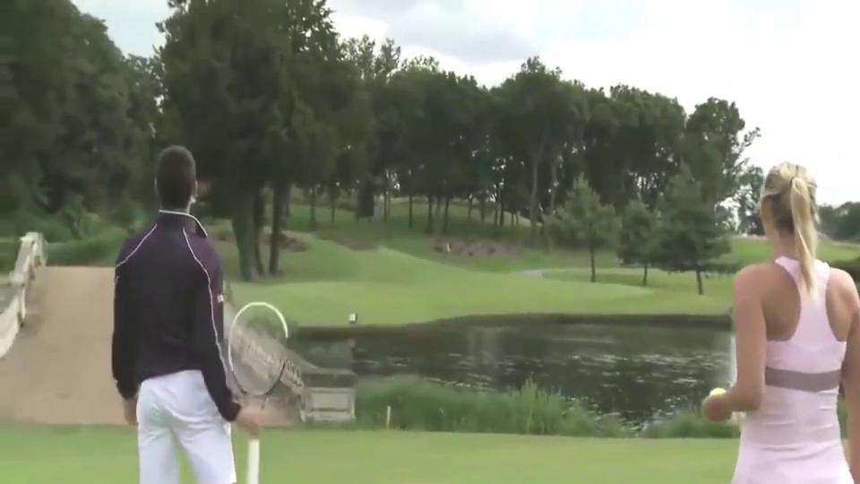 德约科维奇与莎拉波娃花式网球高尔夫!