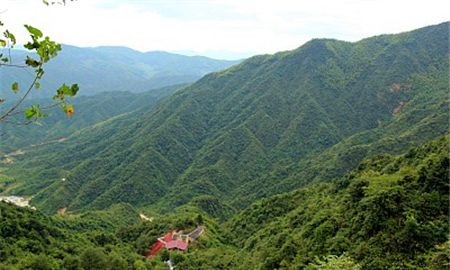 一座座山峰拔地而起,山上绿树成荫,把整个山峰打扮得分外妖娆