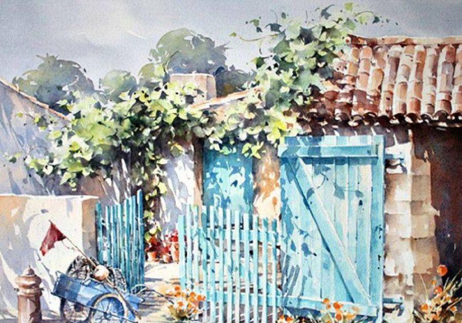 让人心醉的水彩画:来自法国画家克里斯蒂安Christian Graniou