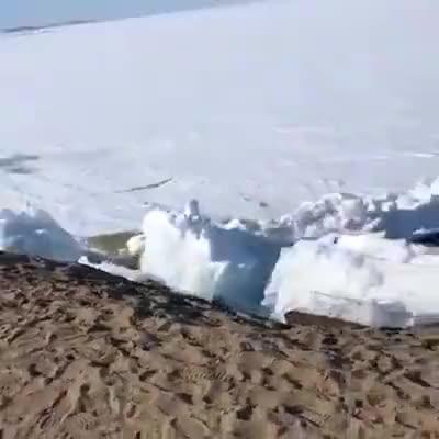 大自然就是这么可怕青海湖