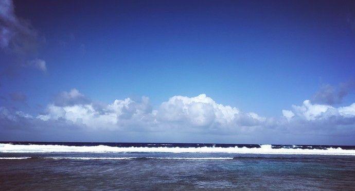 坦克海滩在塞班的东南部,在此有很多形状像星星一样的沙子