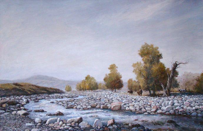新疆风景写生,当代油画名家杨素明作品欣赏