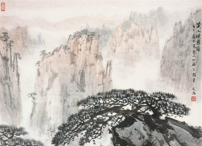 以传统笔墨表现新时代风貌,宋文治山水画作品欣赏
