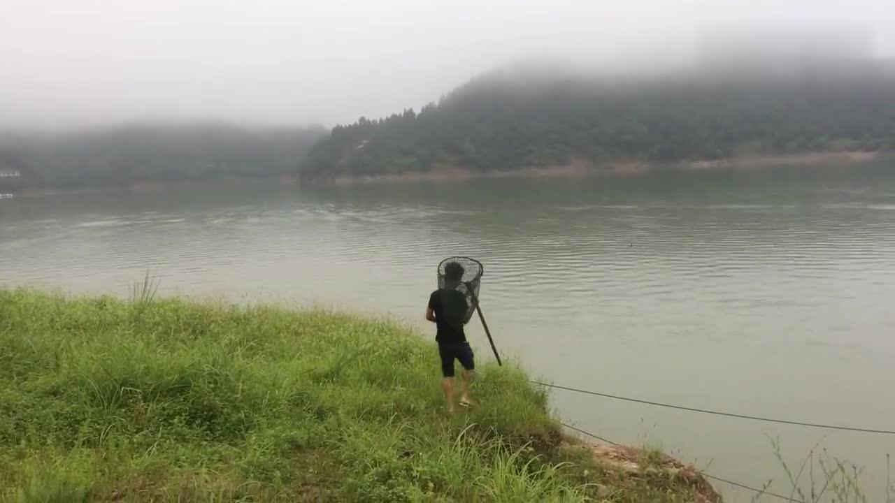 沅江中下游小伙捕鱼30年如一日,看看捕的什么鱼80块一斤