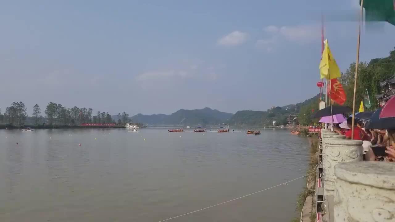 四川省第二届全民健身运动会蓬安龙舟赛