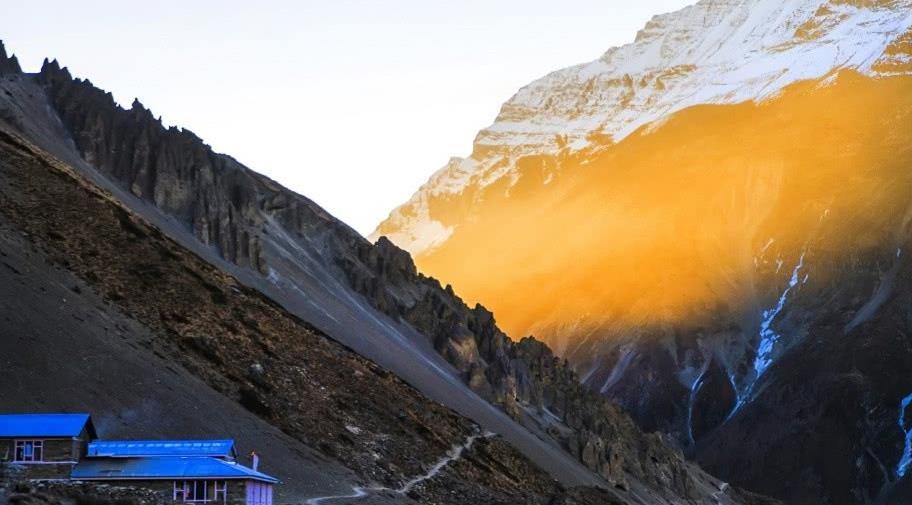 尼泊尔徒步,ACT最美的一段,一天见到九座七千米级雪山