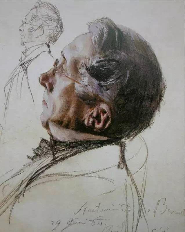 德国素描大师Adolpyh Von Menzel绘画作品欣赏