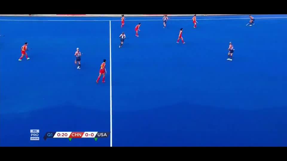 2019世界女子曲棍球,超级联赛,中国vs美国。