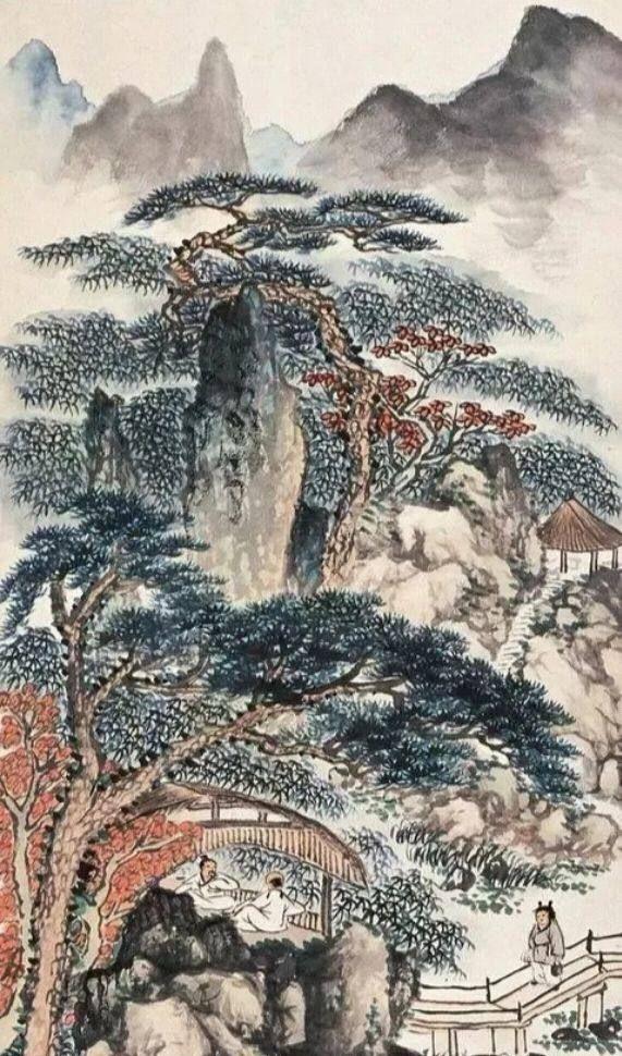 与齐白石平分秋色 ,国画大家陈半丁。