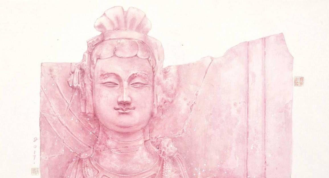 湖北美术学院毕业生杨社伟的国画佛像作品欣赏