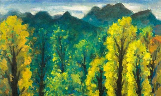 林风眠《秋林景色》鉴赏