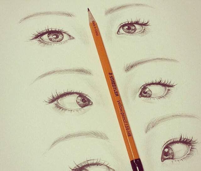 彩铅手绘,眼部特写,眼睛画的超传神