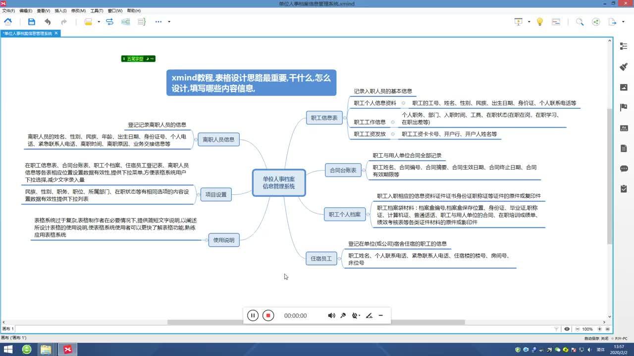 表格设计思路xmind教程人力资源管理表汇总感兴趣可以一看究竟