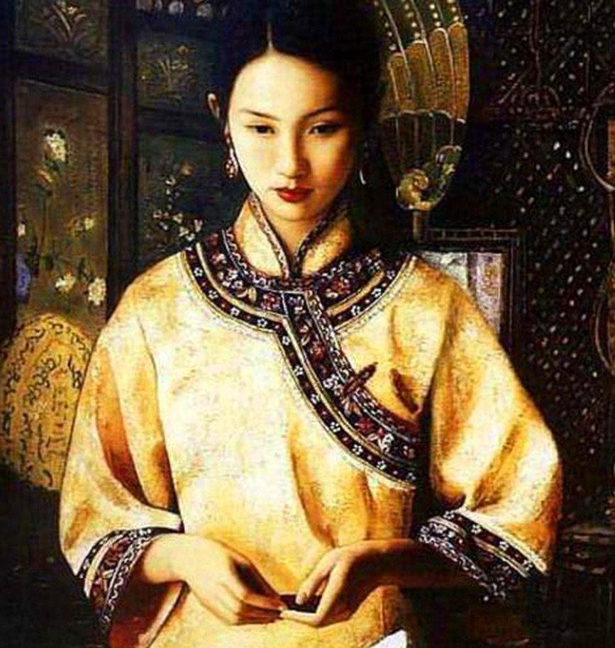 8位晚清美女:美人如画,秀色掩今古,荷花羞玉颜,充满东方韵味