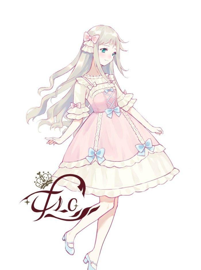 """人物绘画""""洛丽塔田园风""""可爱美丽的女孩子,超漂亮的小"""