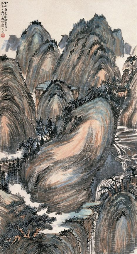 清末民初著名篆刻家、藏书家姚华山水画作品欣赏