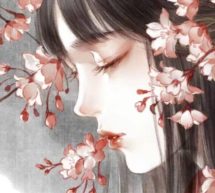 古凤手绘美艳妖娆美女壁纸:所谓美人者,以花为貌,倾国