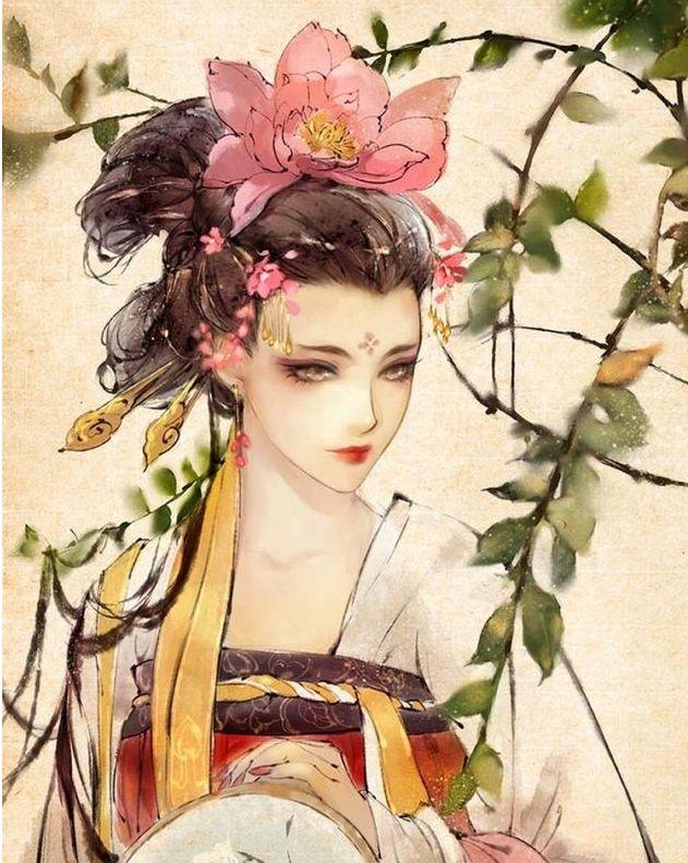 唯美古风二次元手绘壁纸,菩提飘雪,浅笑依然,原来爱无