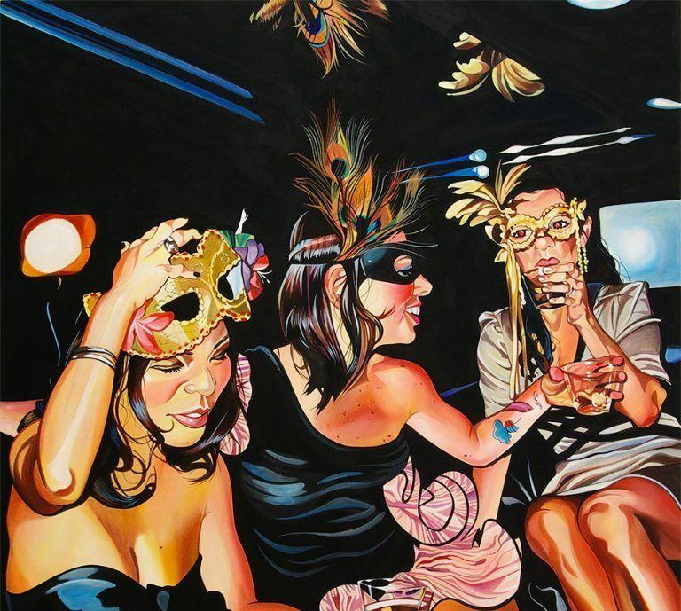 美国艺术家Leah Tinari创作的充满活力的画作