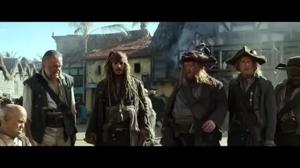 加勒比海盗5杰克的船刚要下海结果所有人都被打脸太好笑了
