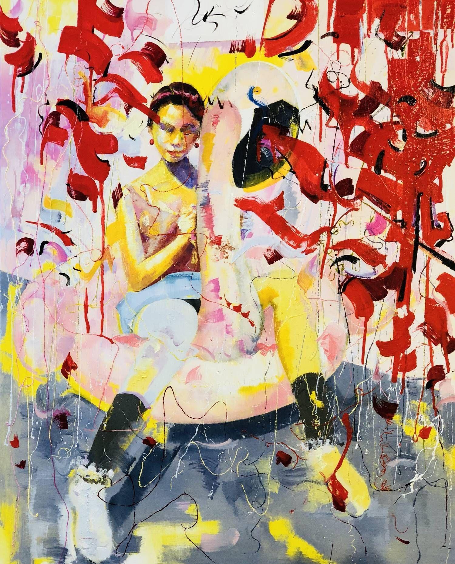 广州美术学院油画系毕业生耕晨的人物绘画艺术作品