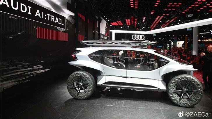 奥迪TRAIL Quattro纯电越野概念车发布:外观似探月车