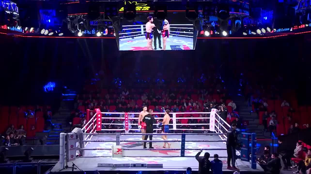 昆仑决沈阳对阵昆山超新星吴思翰一个后手拳击败马苏德