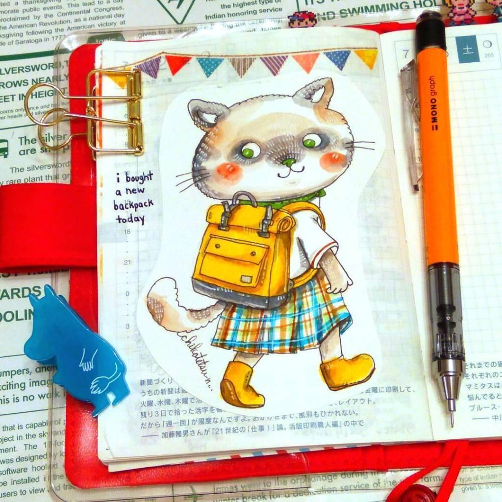 可爱插画家的手绘小动物作品 也太萌了吧有小朋友的看看
