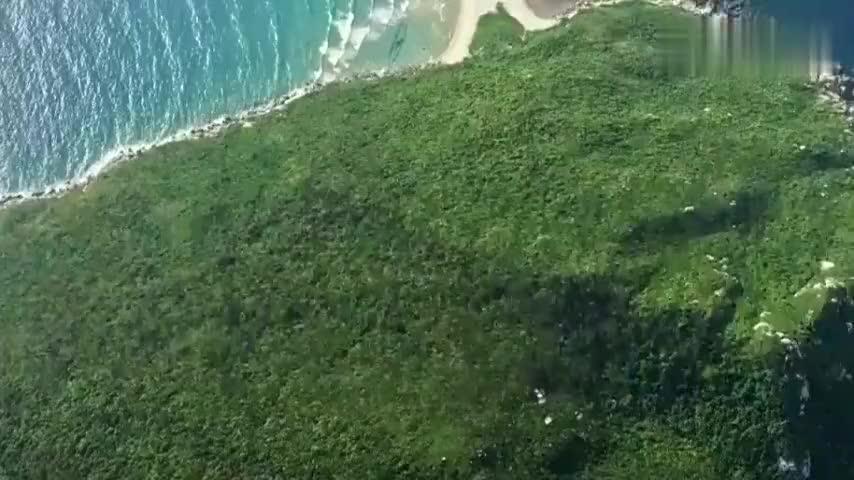 景中之旅空中一瞥海南大洲岛