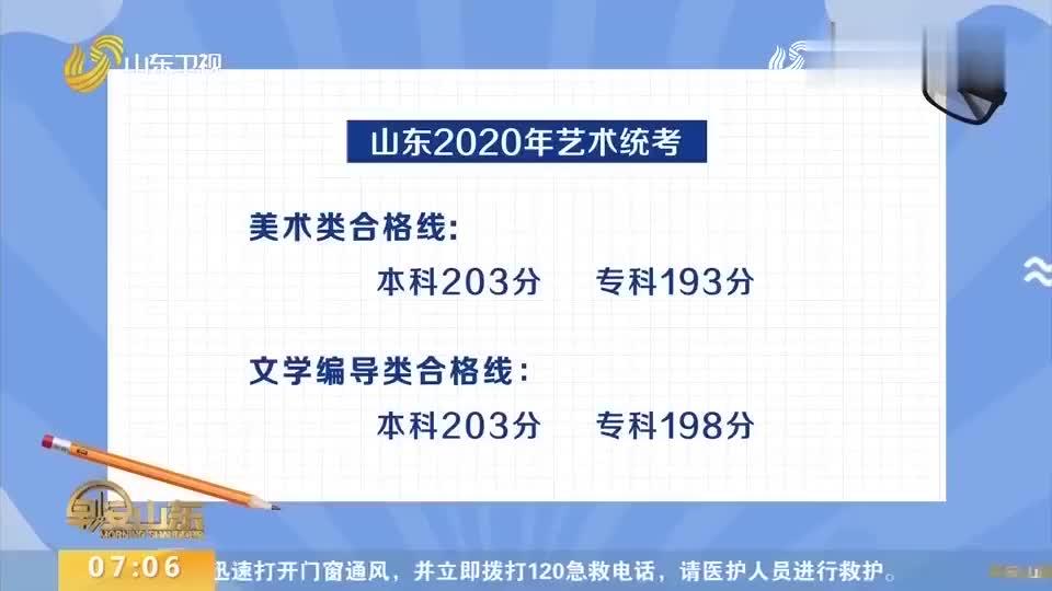 山东省招考院公布2020艺术统考合格线美术文学编导类均提2分