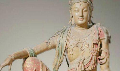 流失文物:图5镂空东周黄金剑柄,图6顾恺之的《女史箴图》