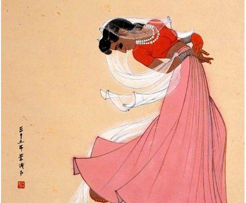 美人画中来,大师叶浅予6幅舞蹈人物画欣赏