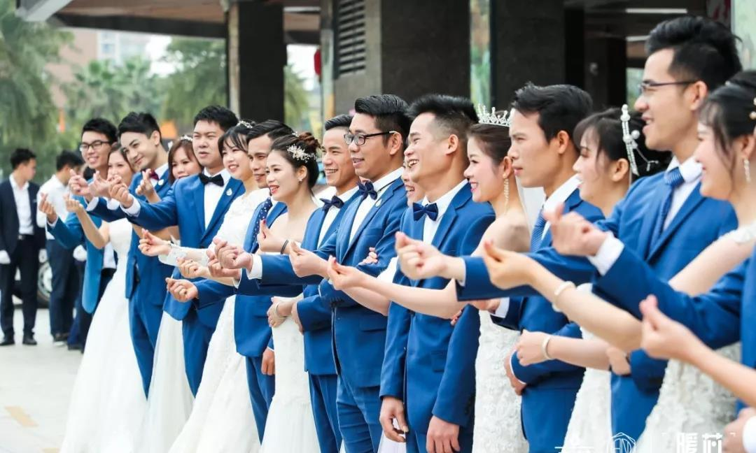 广东中山最知名的净水品牌九芯,打造了首届最豪华的集体婚礼