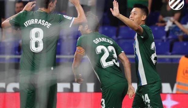 欧联杯-武磊开场3分钟进球欧战首球 西班牙人总分6-0卢塞恩