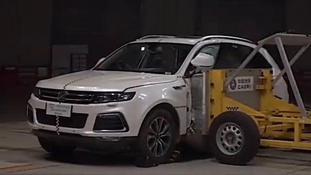 视频:众泰T600碰撞安全测试