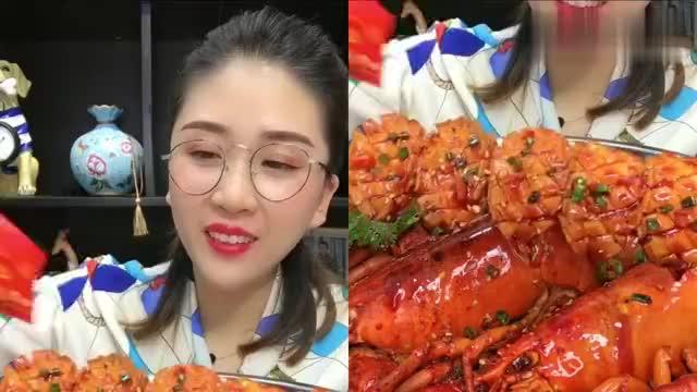 美女吃播来个鲍鱼撸串看着就有食欲感觉自己都饿了己都饿了!