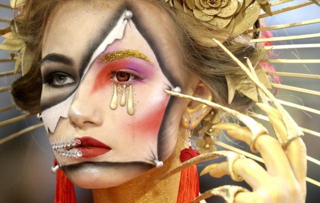 白俄罗斯的美容产业节,美妆大师大展精湛技艺