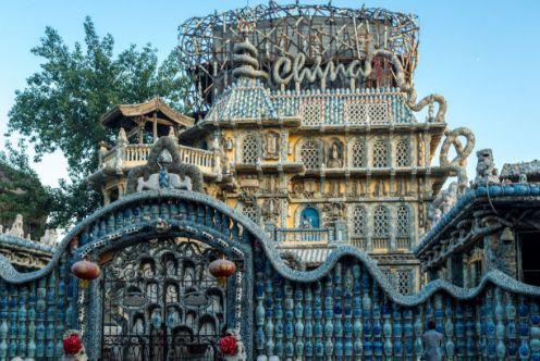 中国古代最壕的建筑,用陶瓷制作的壮观房屋,瓷房子!
